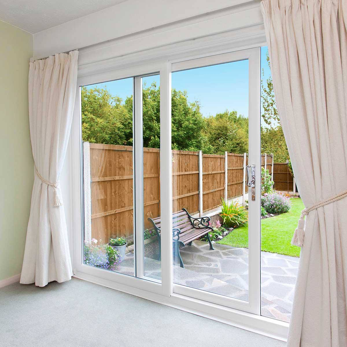 Double sliding patio doors fascinating sliding patio doors for Double door patio doors